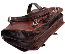 Cenzo Italian Leather Backpack Briefcase Convertible bottom