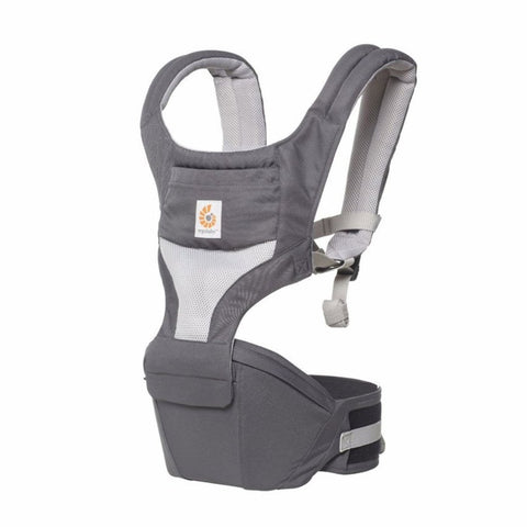 Ergobaby HipSeat Carrier - Carbon Grey Air Mesh