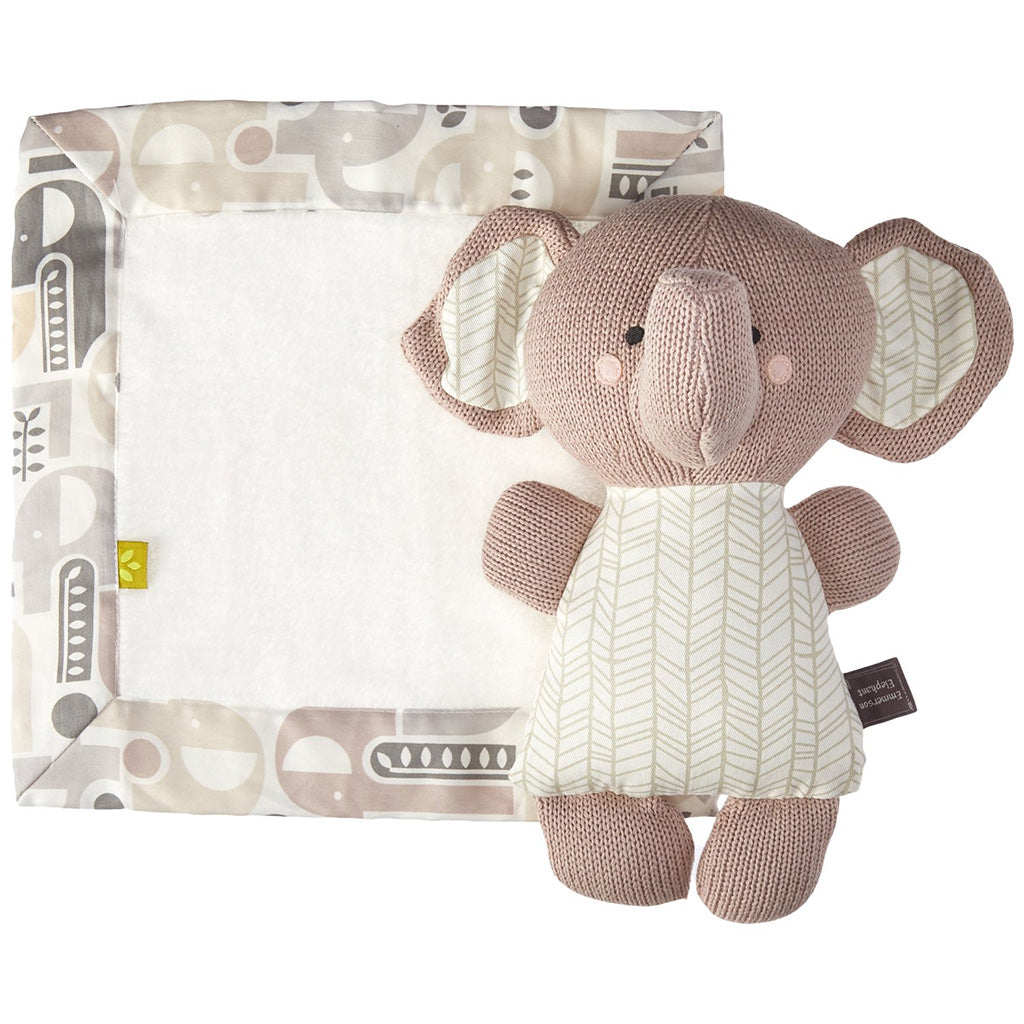 Living Textiles Softie Plush and Blankie Elephant