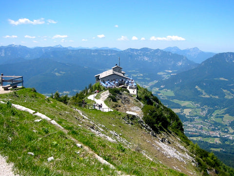 Travel destination of Eagles Nest in Berchtesgaden in the Bavarian Alps.
