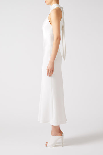 Cropped Sienna Dress - White