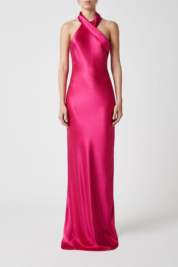 Silk Pandora Dress - Fuchsia