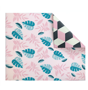 The Pieces l Pink Leaf/Geo Play Mat