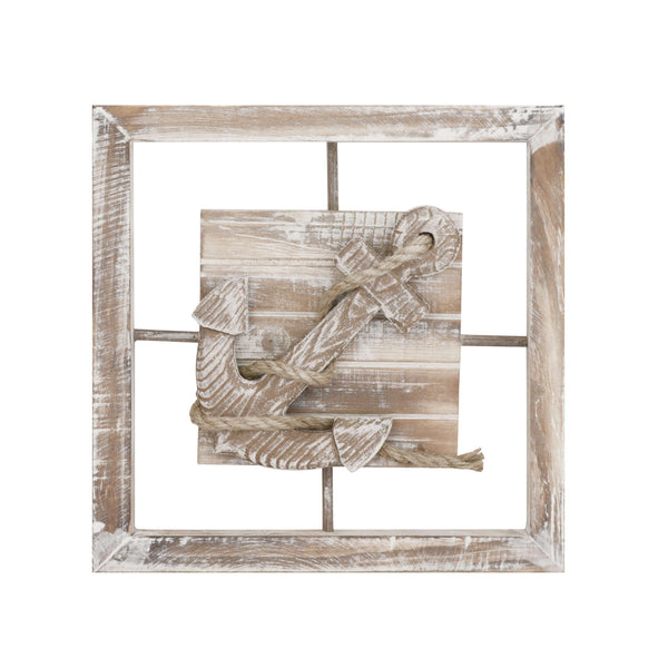 Anchor Pattern Wall Plaque