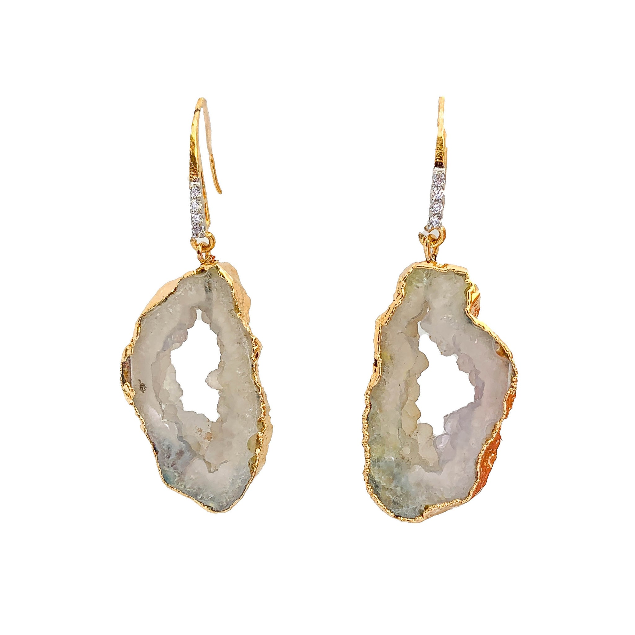 Druzy Earrings  | Women Earrings | Large Earrings by Tanya Litkovska