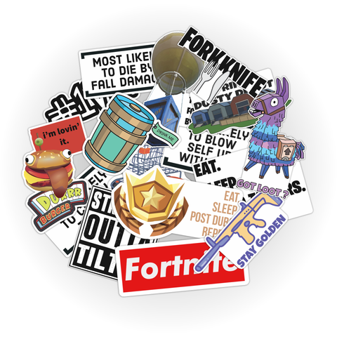 Battle Royale Sticker Pack - (15 stickers per pack)