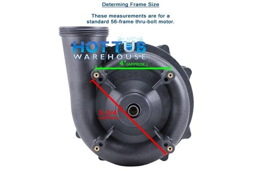 "Waterway Executive 3 HP 1 Speed 2 1/2"" Intake 2"" Discharge 56 Frame 230 Volt Pump 3711221-13"