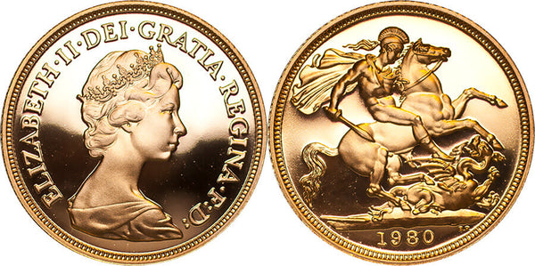 GB Elizabeth II 1980 Sovereign Proof