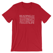 Reading Is Life Most Commonly Written Words Group printed read t-shirt