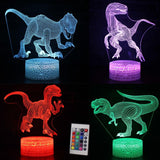 Dinosaur LED Illusion Lamp With 7 Color Remote