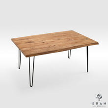 Live Edge Rustic Table With Light Hairpin Style Legs