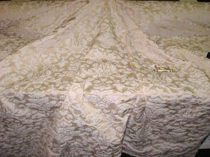 Valencia Beige & Ivory Damask Drapery Upolstery Fabric