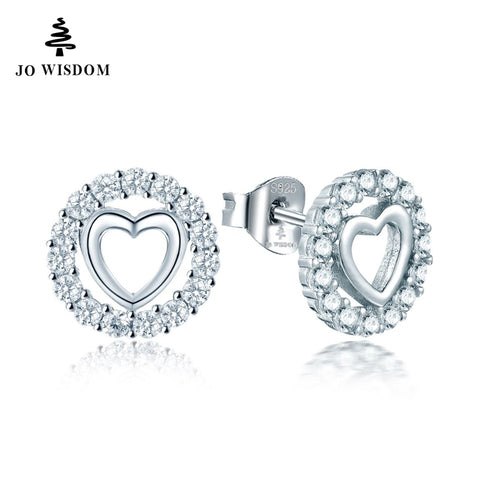 100% 925 Sterling Silver Heart Stud Earring for Women Best Gift for Friends/wife/Girl
