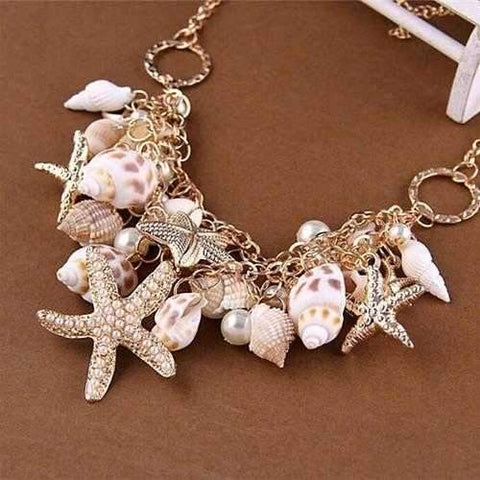 Sweet Nature Necklace With Sea Shells-JewelryKorner-com