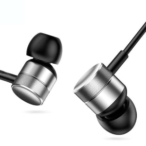 In-Ear Sport 3.5Mm Jack Bass Sound Earphones With Mic For Iphone Samsung Android Phones Headset - Silver - Free Shipping - Electronics -