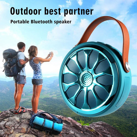 Outdoor Waterproof Portable Bluetooth Ip67 Wireless Speaker Power Bank And Led Flashlight Bike Mount - Blue - Free Shipping - Electronics -