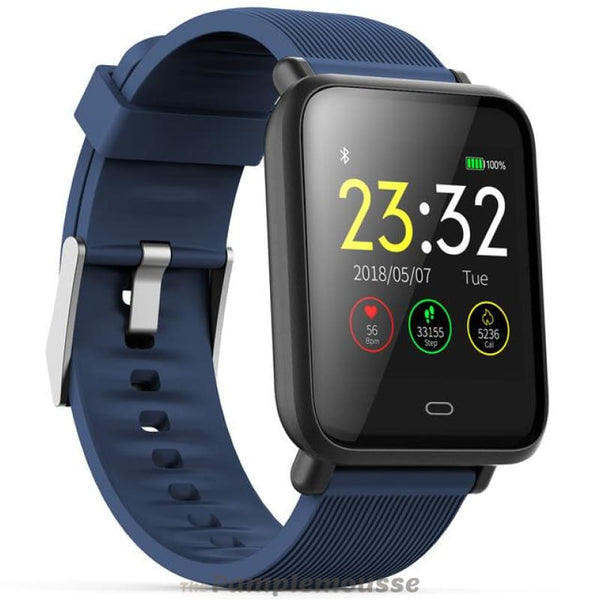 Smartwatch Ip67 Waterproof Fitness Sports With Heart Rate Blood Pressure Monitor Functions For Android / Ios - Coral Blue - Free Shipping -
