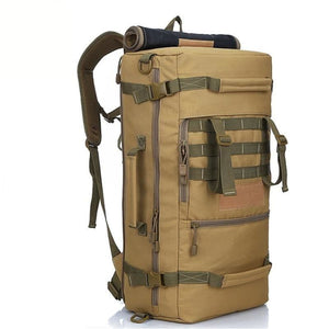 Top Quality 50L New Military Tactical Backpack Camping Mountaineering Hiking Rucksack Travel Backpack - Khaki - Free Shipping - Outdoor -
