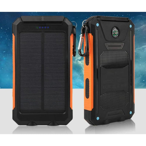 Waterproof Portable 20000 Mah Solar Power Bank Dual Usb External Battery Charger - Orange - Free Shipping - Electronics - Electronics -