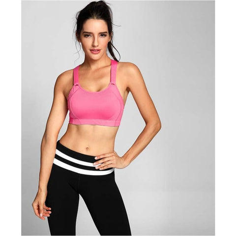 Womens High Impact Wire Free Full Coverage Lightly Padded Gym Bra - Free Shipping - Sports - Clothing - $23.00 | The Pamplemousse