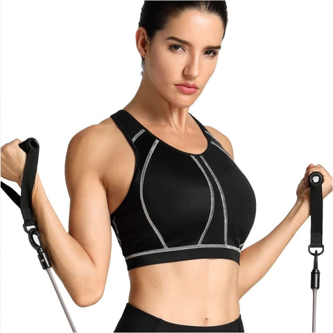 Womens Medium Impact Full Coverage Molded Cup Wire Free Sports Bra - Free Shipping - Sports - Clothing - $19.00 | The Pamplemousse