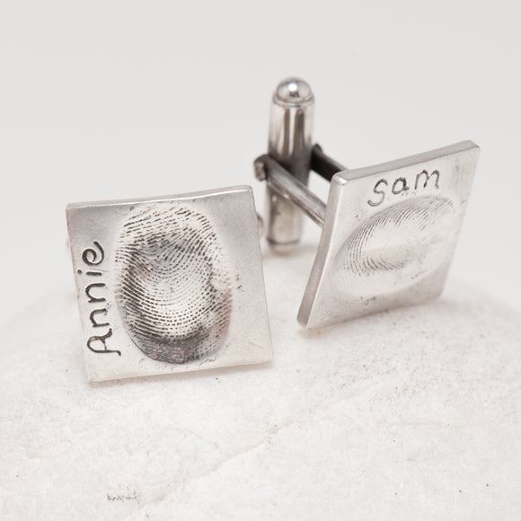 Square Fingerprint Cufflinks