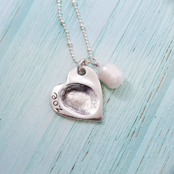 Heart Fingerprint Pendant