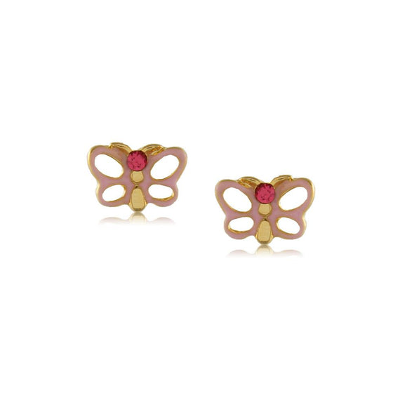 Painted Butterfly Studs Baby Earrings - ijeweled