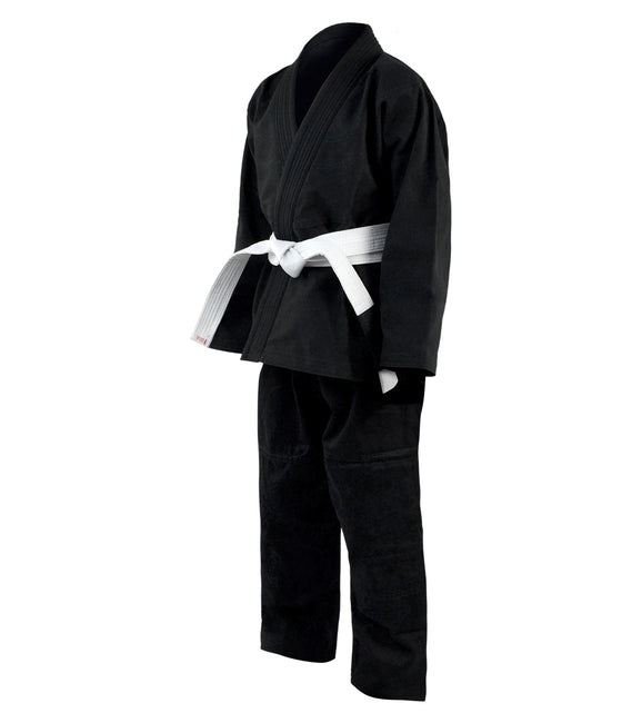 Combat Corner Recruit Youth BJJ GI – FREE WHITE BELT-BLACK-1