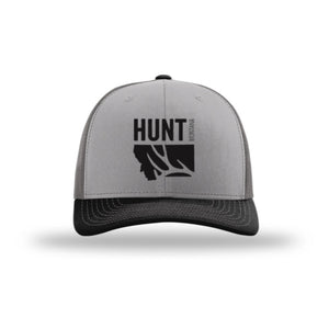 HUNT MONTANA - DEER HUNTING HAT - CHARCOAL/GRAY/BLACK