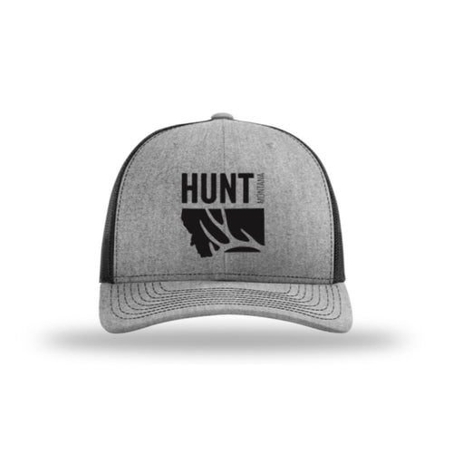 Hunt Montana - Snapback Hat - Heather/Black - DEER ANTLER