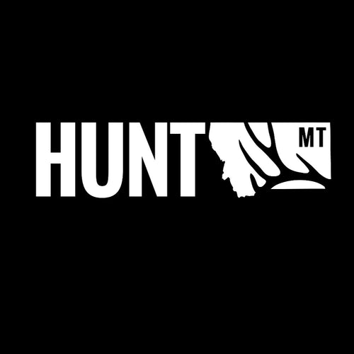 MONTANA TRUCK DECAL - HUNT MONTANA - MT MULE DEER ANTLER