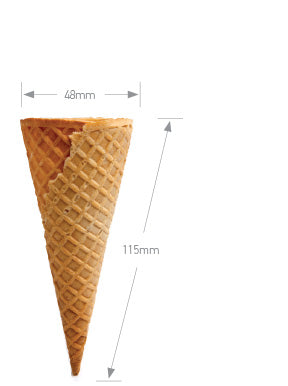 Altimate Flat Top Waffle Cone A