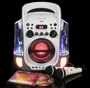 Vocal-Star Portable CDG Bluetooth Karaoke Machine With Dancing Water Feature & Led Light Show, 2 Microphones & 40 Party Songs (VS275BT)