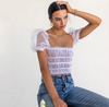 Seeing Spots Frill Crop Top