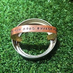 """Inhale The Good Exhale The Bad"" Bracelet"