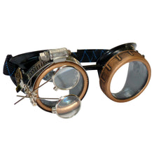 Load image into Gallery viewer, Steampunk Goggles Rave Glasses rave wear clear lenses