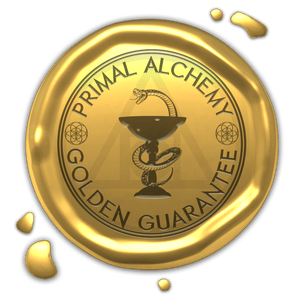 primal alchemy gold guarantee stamp logo