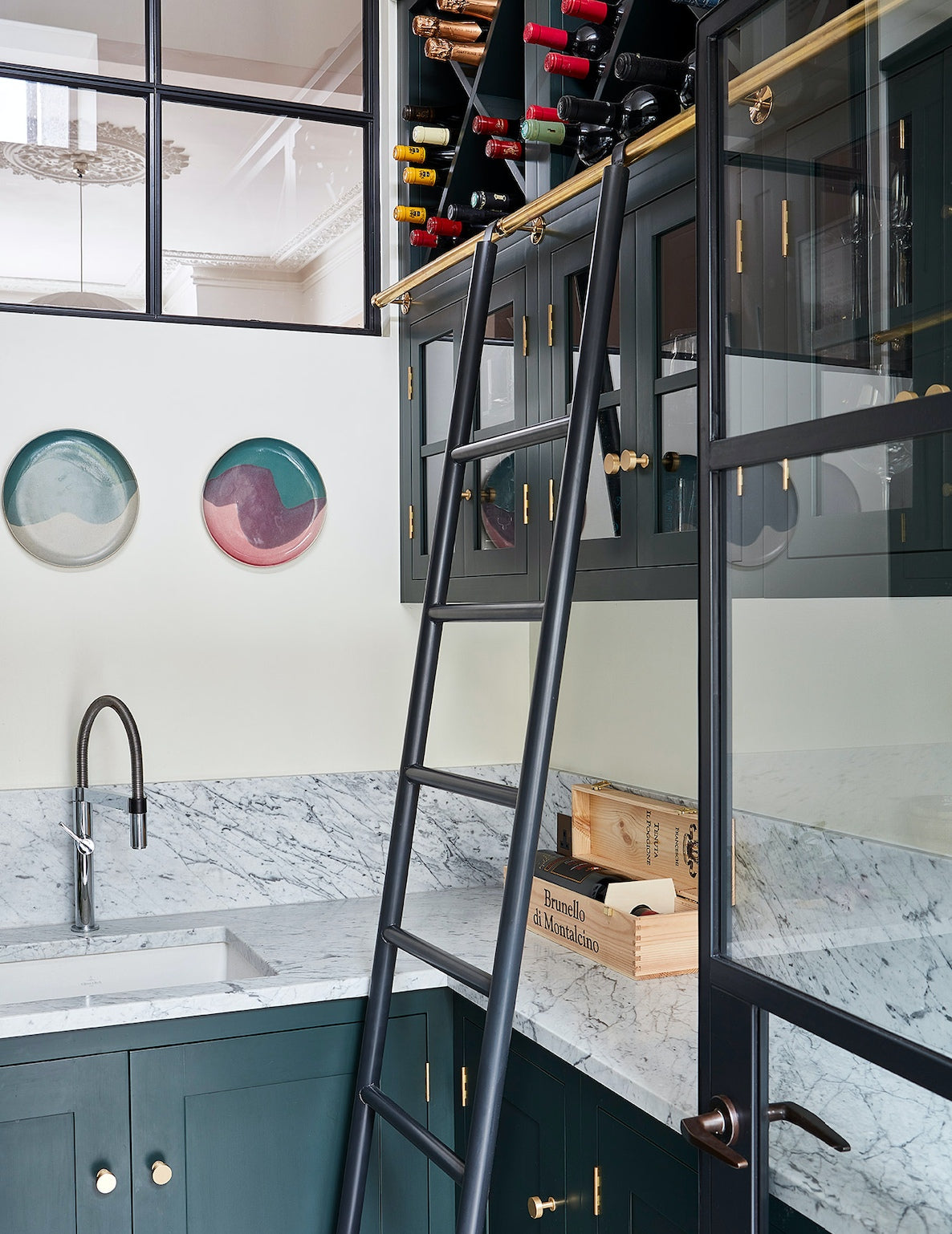 Ladders In Kitchens - The Latest Kitchen Trends in 2019 with Blakes London - LuxDeco.com
