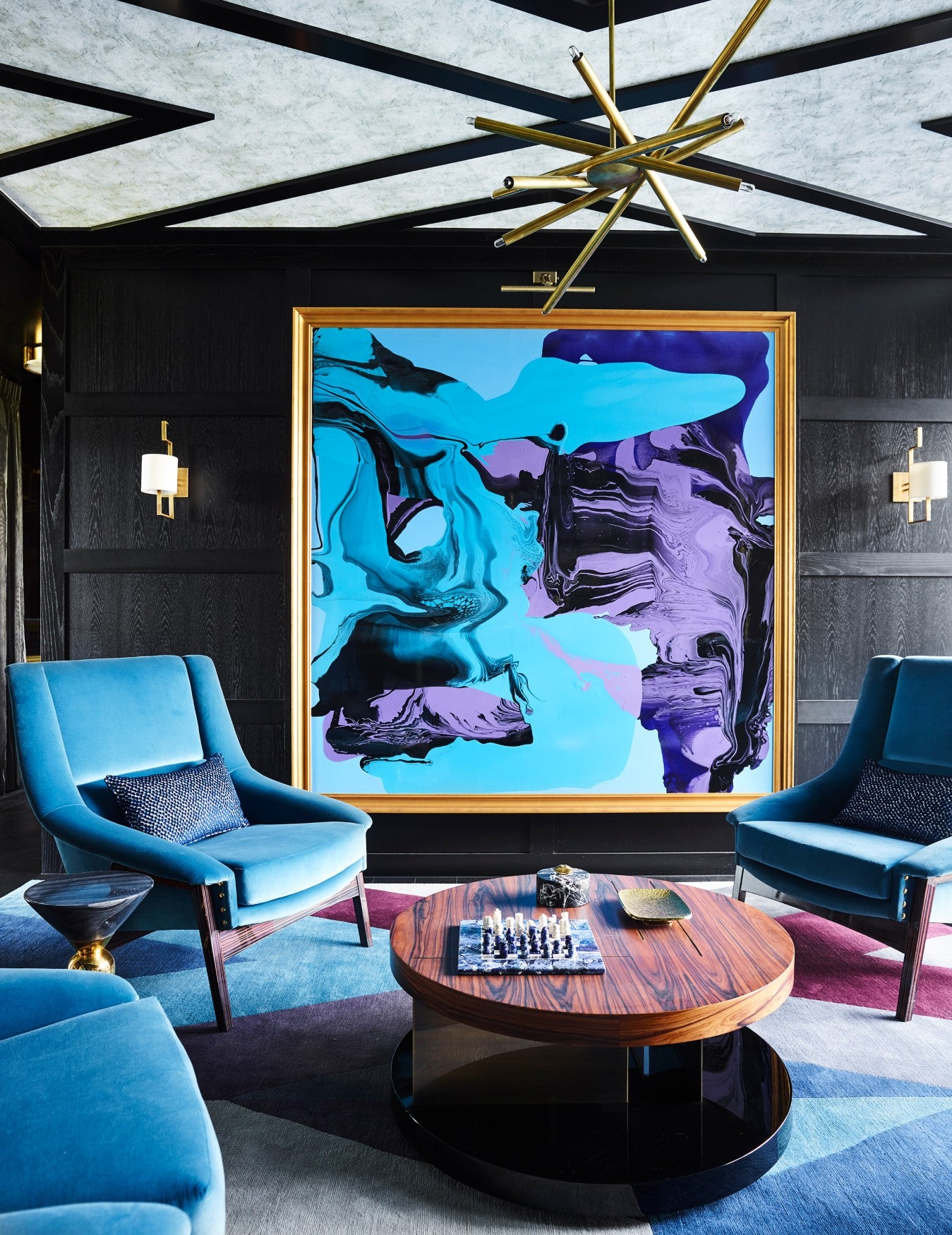 Statement Artwork - 7 Ways To Make a Statement In Your Living Room - LuxDeco.com