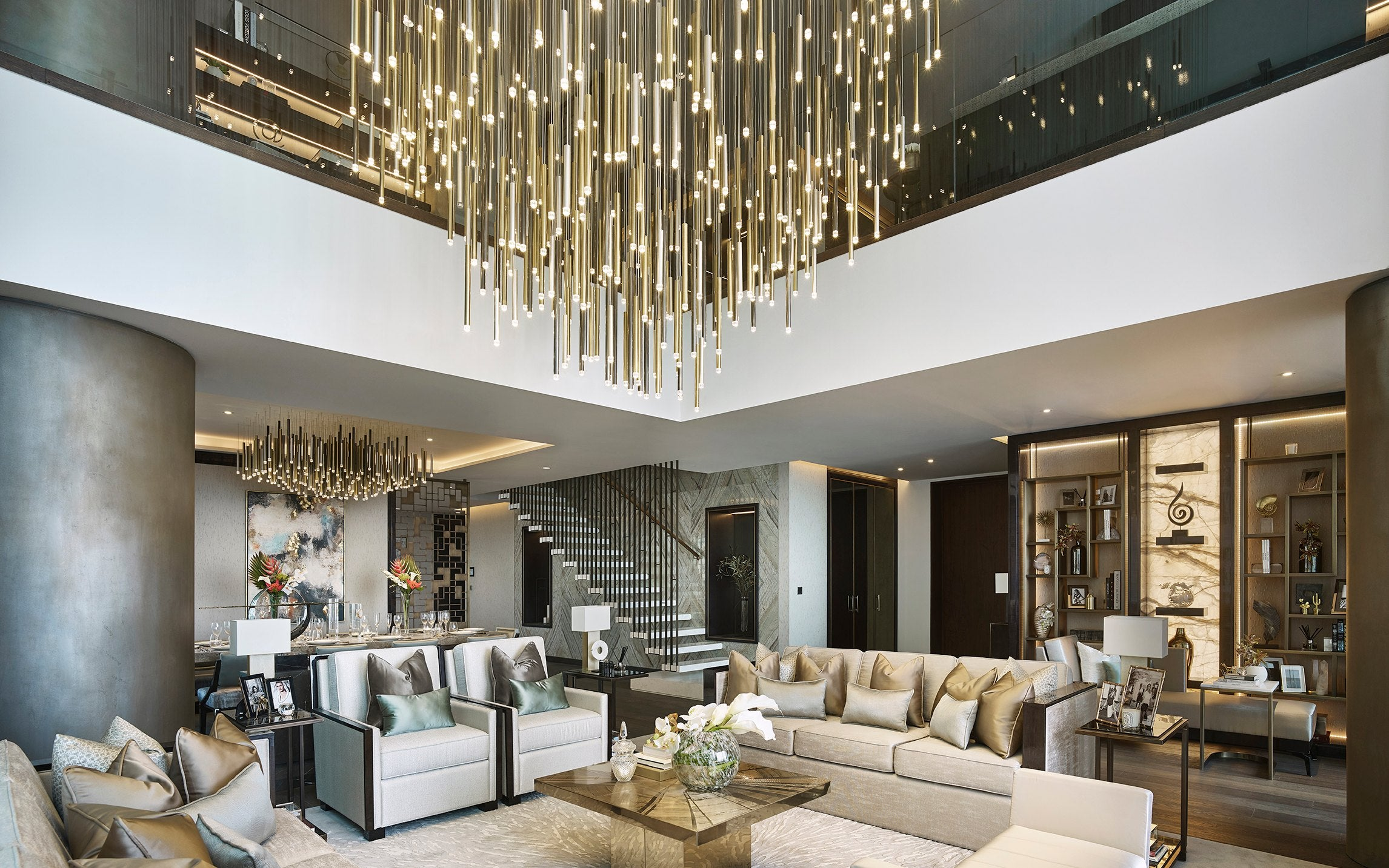Statement Lighting - 7 Ways To Make a Statement In Your Living Room - LuxDeco.com Style Guide