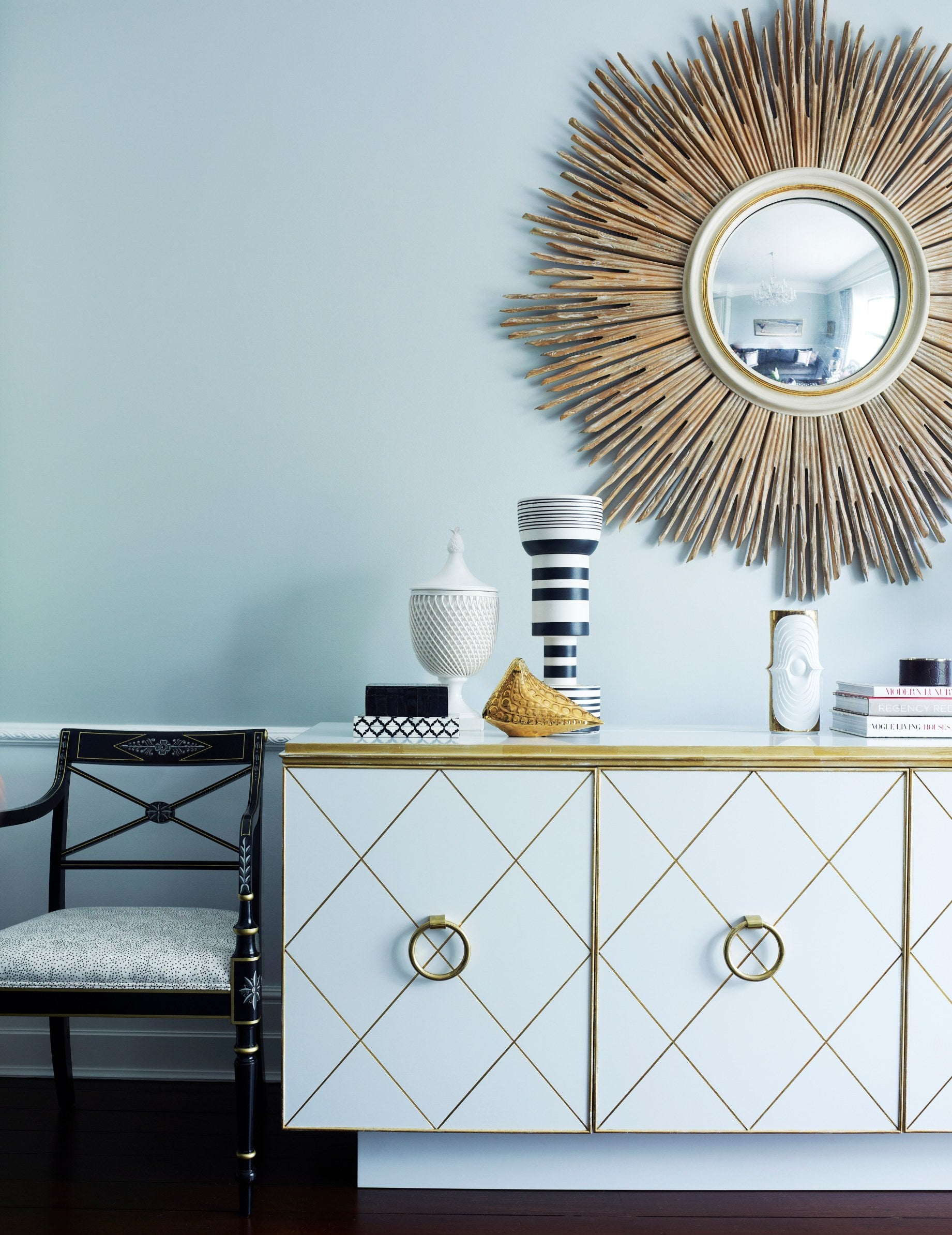 Statement Mirrors - 7 Ways To Make a Statement In Your Living Room - LuxDeco.com