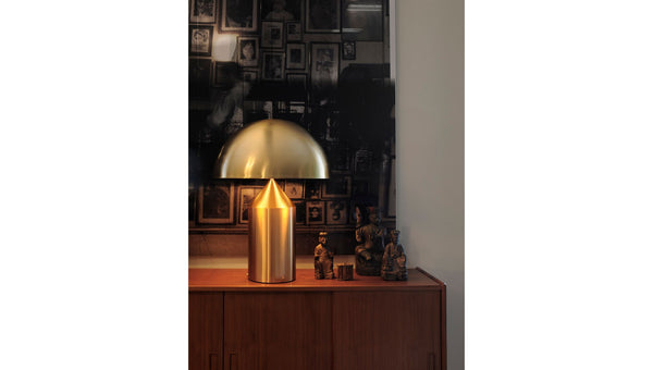 Atollo Gold Table Lamps Oluce featured