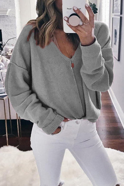 Orsle Casual V neck Knitted Sweater