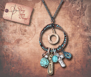 Be Still Inspiration Cluster Necklace - Copper & Patina