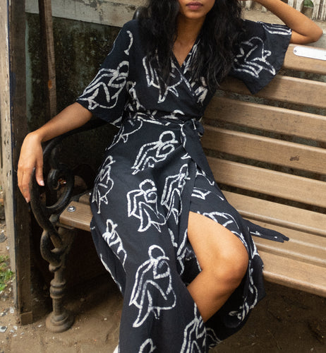 Tulip Wrap Dress in Lilith - Osei Duro
