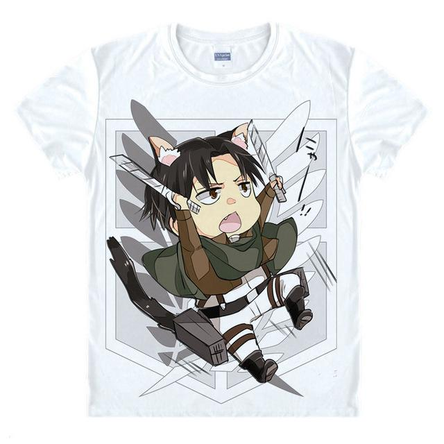 T-Shirt - Attack On Titan Shirt 進撃の巨人 Cartoony Eren Attack