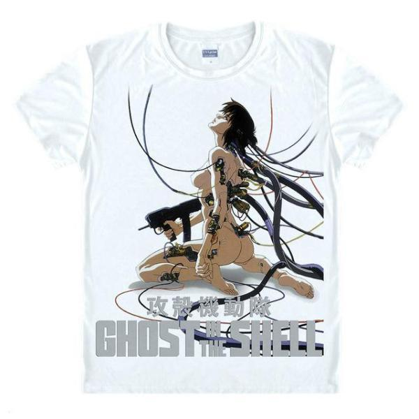 T-Shirt - Ghost In The Shell Shirt 攻殻機動隊 Classic Jacked-In Image
