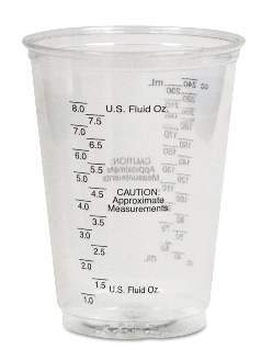 10 Ounce Mixing Cup (12 per package)