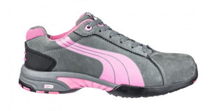 PUMA Balance Women's Low Pink/Gray Steel Toe Water Resistant Static Dissipative Work Shoes 642865